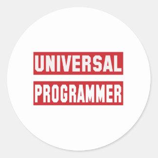 Universal Programmer Classic Round Sticker