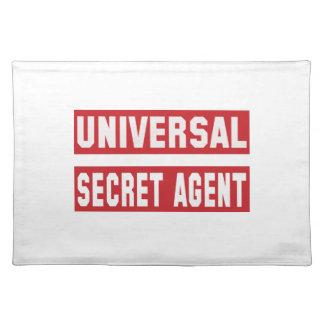 Universal Secret agent. Cloth Placemat
