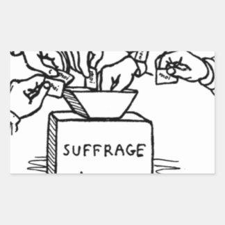 Universal suffrage by Felix Vallotton Rectangular Sticker