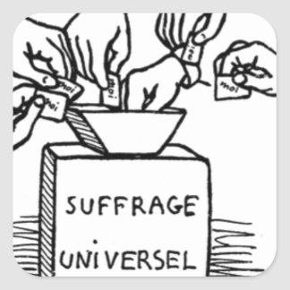 Universal suffrage by Felix Vallotton Square Sticker