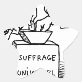 Universal suffrage by Felix Vallotton Star Sticker