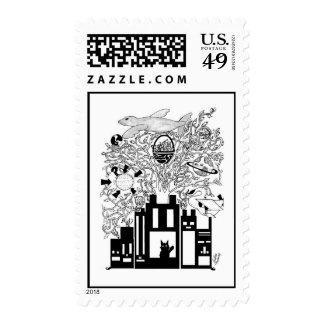 Universal Tree Postage Stamp