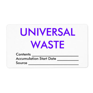 Universal Waste Shipping Labels
