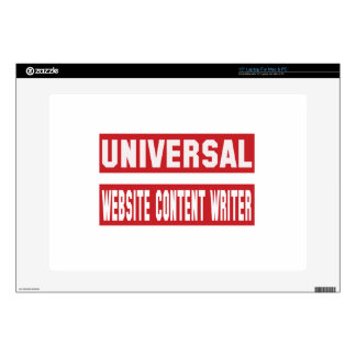Universal Website content writer. Decal For Laptop