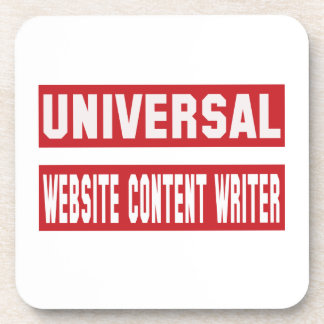 Universal Website content writer. Drink Coaster