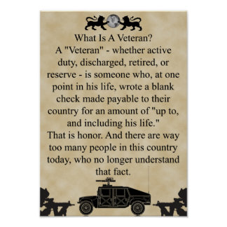 Universal What is a Veteran Poster