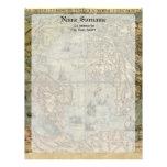 Universale Descrittione Map Custom Letterhead