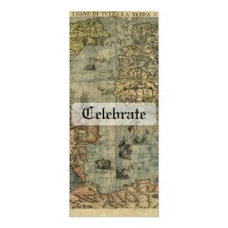 Universale Descrittione Map 4x9.25 Paper Invitation Card