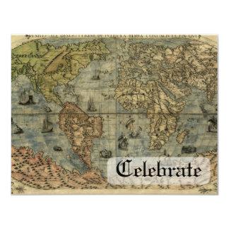 Universale Descrittione Map 4.25x5.5 Paper Invitation Card