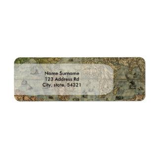 Universale Descrittione Map Return Address Label