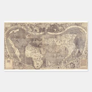 Universalis Cosmographia by M. Waldseemuller 1507 Rectangular Sticker