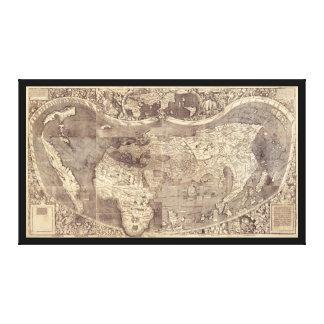 Universalis Cosmographia de M. Waldseemuller 1507 Lona Estirada Galerias