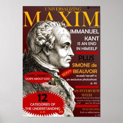 Universalizing Maxim print