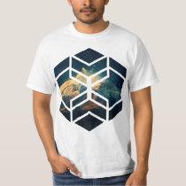 Universe Block Cutout T Shirt