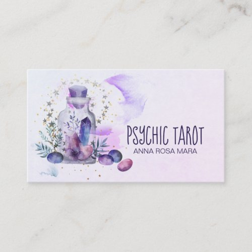 Universe Cosmos Stars Crystals Psychic Tarot Business Card