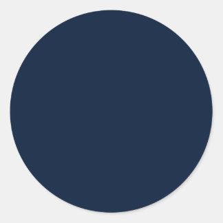 Universe Dark Purple Blue Solid Color Background Round Sticker