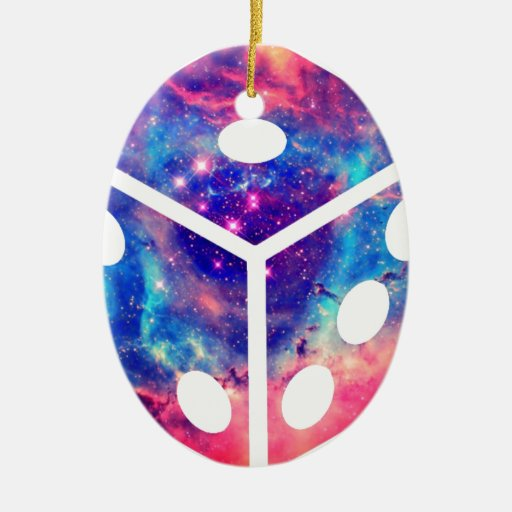 Universe Dice Ceramic Ornament