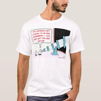 universe end lens cap telescope astronomer T-Shirt