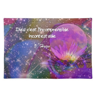 Universe, Flowers and Quote about god Placemat