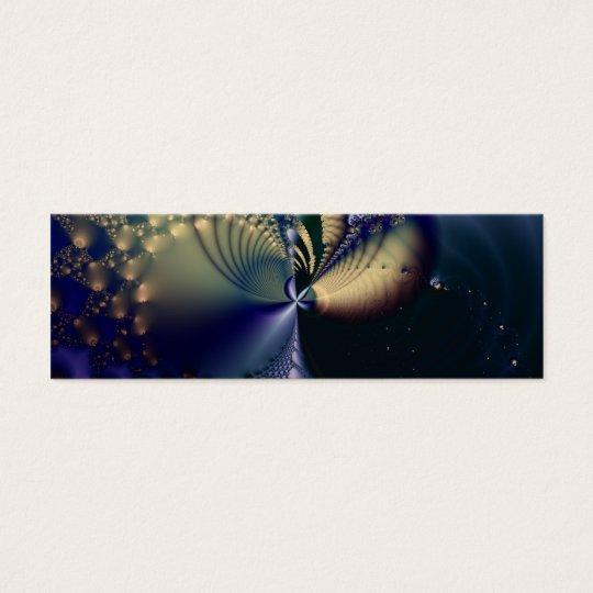 Universe · Fractal Art · Blue & Gold Mini Business Card