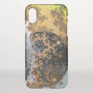 Universe Galaxy Black Bright Yellow Stars Fractal iPhone X Case