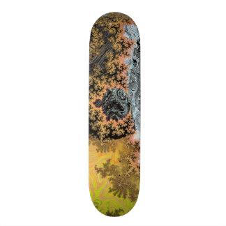 Universe Galaxy Black Bright Yellow Stars Fractal Skateboard Deck