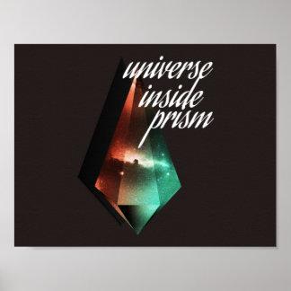 Universe inside prism poster