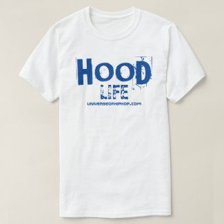 Universe of Hip Hop Hood Life Collection white T-Shirt