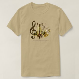 Universe of Hip Hop Music Notes Men Collection T-Shirt