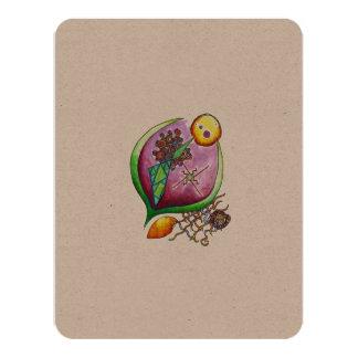 Universe of nut - eco card pop nature illustration