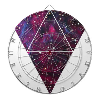 Universe Of Triangles Space Life Dartboard With Darts