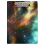 Universe Outer Space Stars Personalized Clipboard