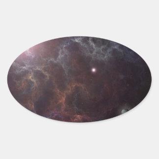 Universe Oval Sticker