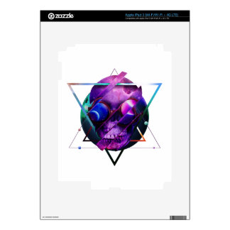 Universe skull galaxy decal for iPad 3