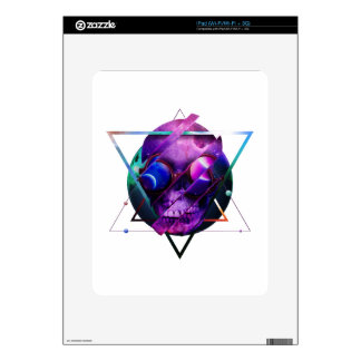 Universe skull galaxy iPad decal