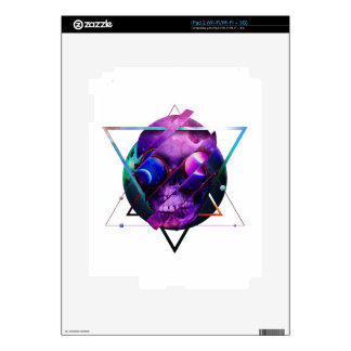 Universe skull galaxy skins for the iPad 2