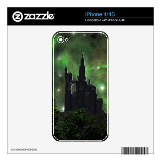 universe sky green skin for iPhone 4