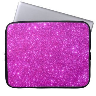 Universe Star Hot Pink Glitter Sparkle Laptop Case Laptop Computer Sleeves