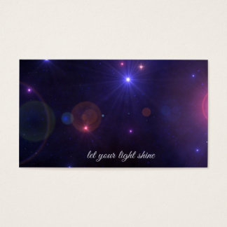 Universe Stars  Inspirational Quote Business Card