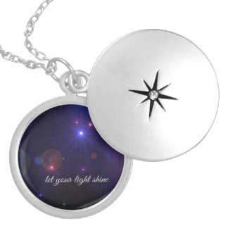 Universe Stars  Inspirational Quote Locket Necklace