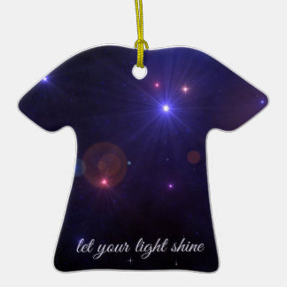 Universe Stars Inspirational Quote Christmas Tree Ornament