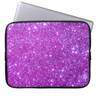 Universe Stars Pink Glitter Sparkles Laptop Case 1