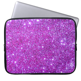 Universe Stars Pink Glitter Sparkles Laptop Case 1 Computer Sleeve