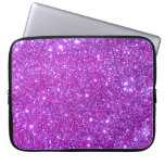 Universe Stars Pink Glitter Sparkles Laptop Case 1 Computer Sleeves