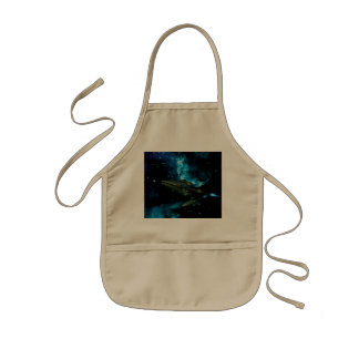 Universe with alien ship aprons