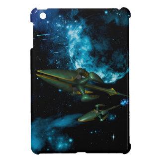 Universe with alien ship iPad mini cases