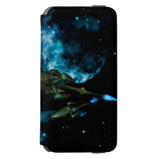 Universe with alien ship incipio watson™ iPhone 6 wallet case