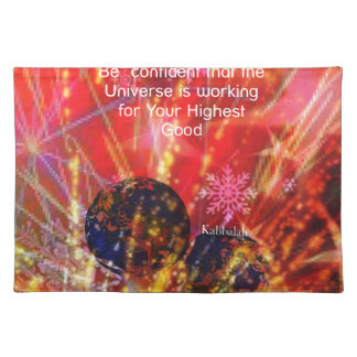 Universe works for you cloth placemat