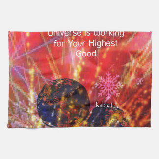 Universe works for you kitchen towel