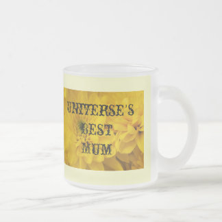 Universe's Best Mum Frosted Glass Coffee Mug